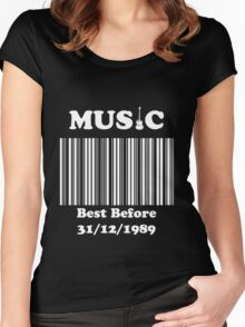 Music was better in the 80's!! Women's Fitted Scoop T-Shirt