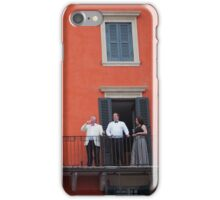 Verona - Drinkers on a balcony iPhone Case/Skin