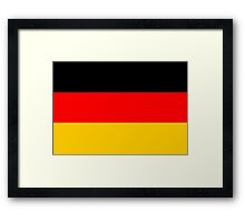 German Flag Framed Print