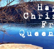 Happy Christmas From Queenstown Sticker