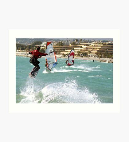 Kite boarder Art Print