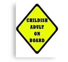 Childish Adult On Board Canvas Print