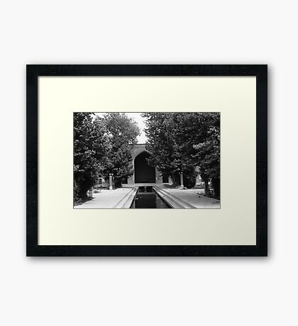 BW Iran Isfahan mosque 1970s Framed Print