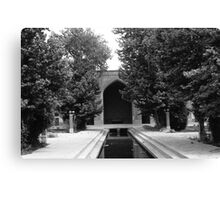 BW Iran Isfahan mosque 1970s Canvas Print