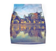 Sarusawa Pond Pagoda Nara Japan Mini Skirt