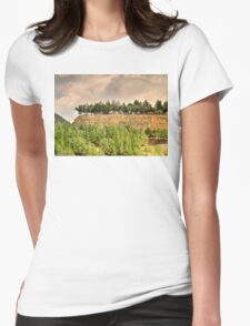 a mysterious landscape... Womens Fitted T-Shirt