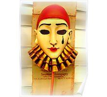 Pierrot mask Poster