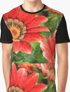 Vivid Orange African Daisy Digital Oil Painting Graphic T-Shirt
