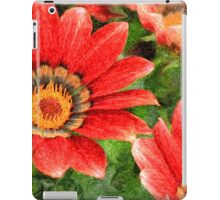 Vivid Orange African Daisy Digital Oil Painting iPad Case/Skin