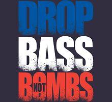 Drop Bass Not Bombs (France) [Stencil Series] Mens V-Neck T-Shirt