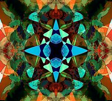 Abstract Inkblot Pattern by Phil Perkins