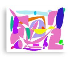 Pink Brave Sight Blazing Sky Big Thought Canvas Print
