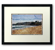 Playing In The Shorebreakers Framed Print
