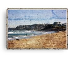 Playing In The Shorebreakers Canvas Print