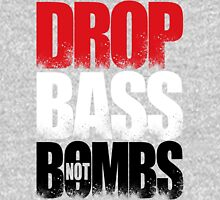 Drop Bass Not Bombs (Iraq) [Stencil Series] Mens V-Neck T-Shirt