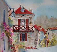 A corner of St Cirq Lapopie by Beatrice Cloake