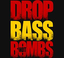 Drop Bass Not Bombs (Spain) [Stencil Series] Mens V-Neck T-Shirt