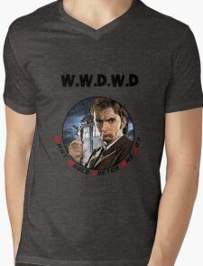 WWDWD - What Would Doctor Who Do? Mens V-Neck T-Shirt