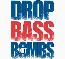 Drop Bass Not Bombs (UK) [Stencil Series] Mens V-Neck T-Shirt