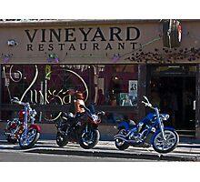 Vineyard Restaurant Photographic Print
