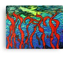 Red Seaweed Canvas Print
