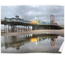 Central Pier-Blackpool . Poster