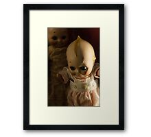 Creepy Cutie Pie Doll Image Framed Print