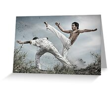 Capoeira fighter Greeting Card