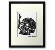 Smoked Skull Framed Print
