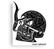 Smoked Skull Canvas Print