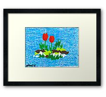 FUN WITH RED TULIPS Framed Print