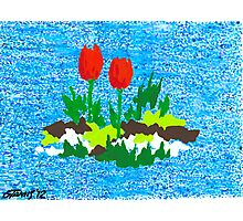 FUN WITH RED TULIPS Photographic Print
