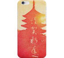 Happy New Year Vermillion Sunset Pagoda iPhone Case/Skin