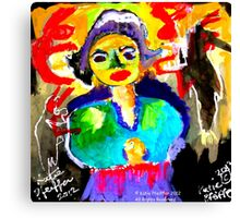 Art  Brut  Woman Canvas Print