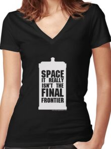 Not the Final Frontier Women's Fitted V-Neck T-Shirt