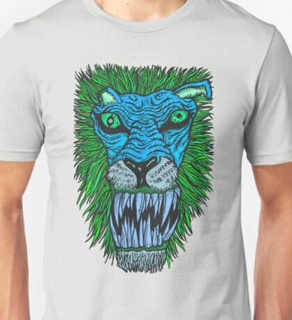 Monster Mondays #2 - Lionel Lion - Anger Monster! - Blue Unisex T-Shirt