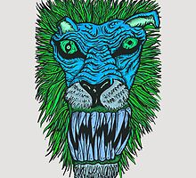 Monster Mondays #2 - Lionel Lion - Anger Monster! - Blue by monstermondays