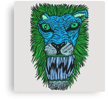 Monster Mondays #2 - Lionel Lion - Anger Monster! - Blue Canvas Print