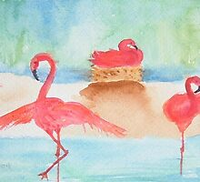 Flamingo Flamenco by Paula Swenson