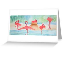 Flamingo Flamenco Greeting Card