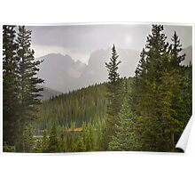 Scenic View of the Indian Peaks Poster