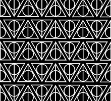 HARRY POTTER - Deathly Hallows (on black) by HECoulson