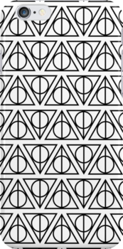 HARRY POTTER - Deathly Hallows (on white) by HECoulson