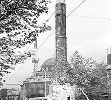 BW Turkey Istanbul The Column of Constantine 1970s by blackwhitephoto
