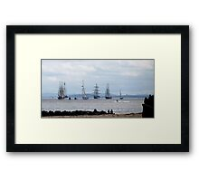 TALL SHIPS LEAVE LIVERPOOL Framed Print