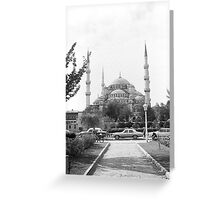 BW Turkey Istanbul The Blue Mosque 1970s Greeting Card
