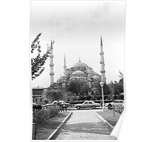 BW Turkey Istanbul The Blue Mosque 1970s Poster