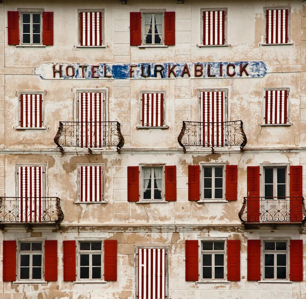 Hotel Furkablick facade by UniSoul