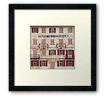 Hotel Furkablick facade Framed Print