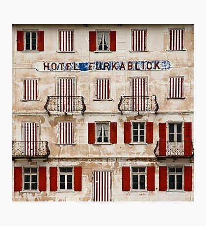Hotel Furkablick facade Photographic Print